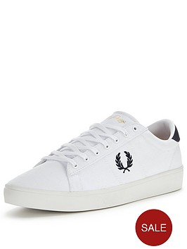 fred-perry-fred-perry-spencer-canvas-trainer-white
