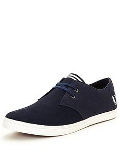 fred-perry-fred-perry-byron-low-suedecanvas-plimsoll-carbon-blue