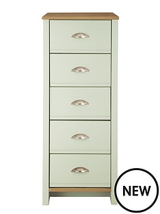 consort-tivoli-sage-ready-assembled-tall-narrow-chest-of-5-drawers