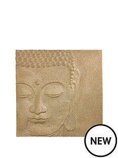arthouse-glitter-buddha-canvas-gold