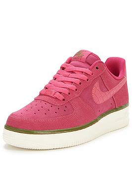 Nike Air Force 1 07 Suede Shoe  Pink