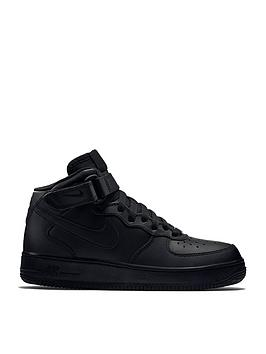 Nike Nike Air Force 1 Mid 06 Junior Trainers - Black Picture