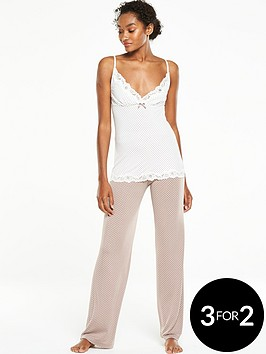 v-by-very-polka-dot-cami-pyjama-set