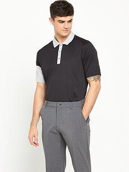 Adidas Golf Climachill Sleeve Blocked Polo Shirt