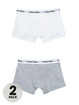 Calvin Klein Boys WhiteGrey Trunks (2 Pack)