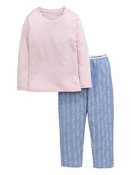 calvin-klein-2pce-woven-pj-set-pinkblue