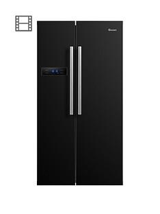swan-sr70120bnbsp90cm-american-style-double-door-fridge-freezer-black