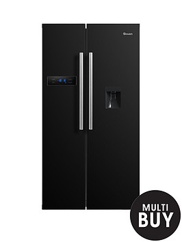 swan-sr70110bnbsp90cm-american-style-double-door-fridge-freezer-with-water-dispenser-black