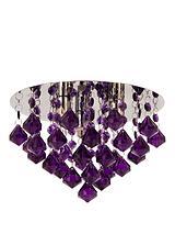 Maya Diamond Flush Ceiling Light
