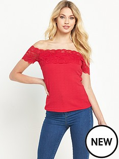 v-by-very-lace-trim-bardot-topnbsp