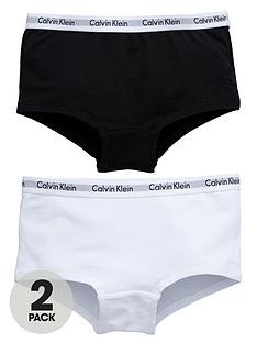 calvin-klein-girls-whiteblack-short-briefs-2-pack