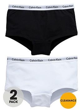calvin-klein-girls-whiteblack-short-briefs-2-pack