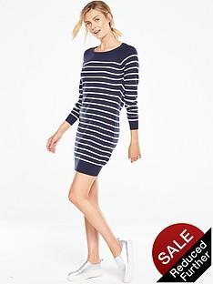 v-by-very-stripenbspzip-back-knitted-dress