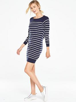 v-by-very-stripenbspzip-back-knitted-dress