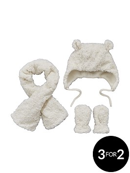 mini-v-by-very-baby-girlsnbspfauxnbspfur-scarf-hat-and-mittens-set-3-piece