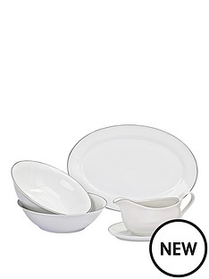 platinum-band-serving-set-5-pc