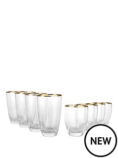 gold-band-glasses-8-pc