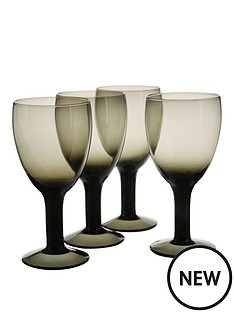 smokey-black-wine-glasses-4pc