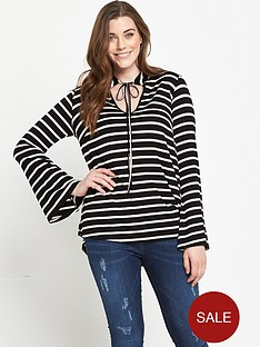 so-fabulous-striped-tie-front-jersey-top