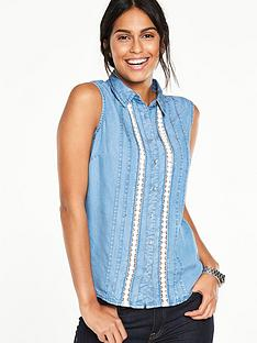 v-by-very-sleeveless-chambray-shirtnbsp