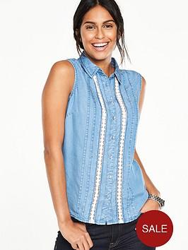 v-by-very-sleeveless-chambray-shirtnbsp