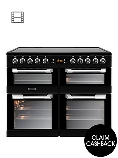 leisure-cs100c510k-cuisinemaster-100cm-electric-range-cooker-with-ceramic-hob-and-optional-connection-ndash-black