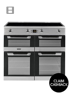 leisure-cs100d510x-cuisinemaster-100cm-electric-range-cooker-with-induction-hob-including-connection-stainless-steel