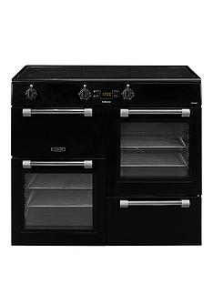 leisure-ck100d210k-cookmaster-100cm-electric-range-cooker-with-induction-hob-including-connection-black