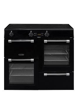 Leisure Ck100D210K Cookmaster 100Cm Electric Range Cooker With Induction Hob And Optional Connection  Black  Cooker Only