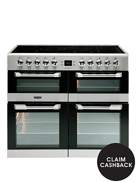 leisure-cs100c510x-cuisinemaster-100cm-electric-range-cooker-with-ceramic-hob-and-optional-connection--stainless-steel