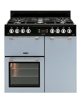 Leisure Ck90F232B Cookmaster 90Cm Dual Fuel Range Cooker And Optional Connection  Blue  Cooker Only