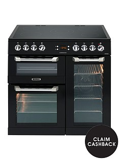 leisure-cs90c530k-cuisinemaster-90cm-electric-range-cooker-with-ceramic-hob-with-optional-connection-black