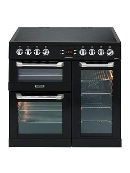 Leisure Cs90C530K Cuisinemaster 90Cm Electric Range Cooker With Ceramic Hob And Optional Connection  Black  Cooker Only