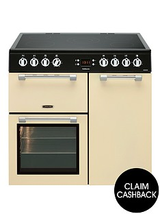 leisure-ck90c230c-cookmaster-90cm-electric-range-cooker-with-ceramic-hob-including-connection-cream