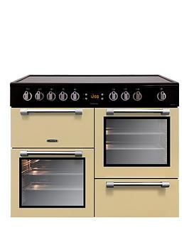 Leisure Ck100C210C Cookmaster 100Cm Electric Range Cooker With Ceramic Hob And Optional Connection  Cream  Cooker With Connection