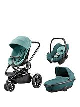 Quinny Moodd Pushchair, Foldable Carrycot, Pebble Car Seat Package - Novel Nile