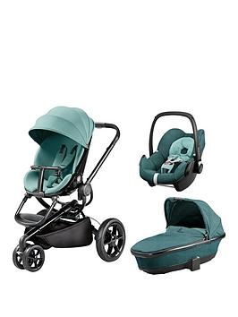 Quinny Quinny Moodd Pushchair Foldable Carrycot Pebble Car Seat Package  Novel Nile