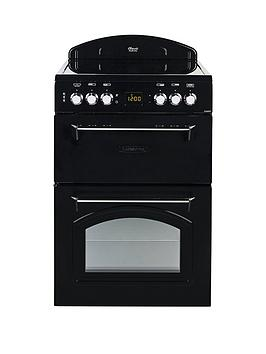Leisure Cla60Cek 60Cm Electric Classic RangeStyle Cooker And Optional Connection  Black  Cooker With Connection