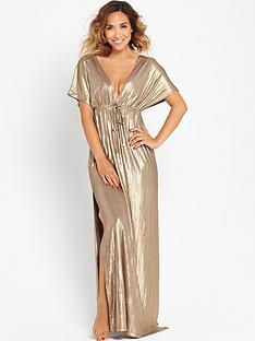 myleene-klass-batwing-metallic-kaftannbspmaxi-dress
