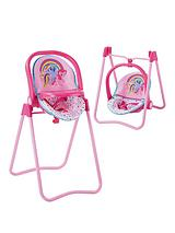 My Little Pony 3 in 1 High Chair, Swing and Carry-Seat.