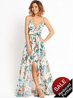 myleene-klass-ruffle-front-floral-maxi-dress
