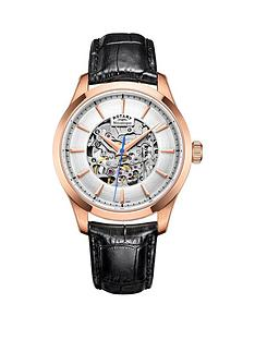 rotary-rotary-mecanique-rose-coloured-case-black-leather-strap-mens-watch