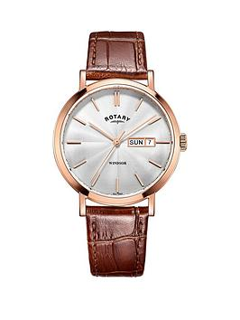 rotary-rotary-windsor-white-dial-rose-plated-case-tan-leather-strap-mens-watch