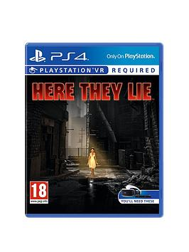 Playstation 4 Here They Lie  Playstation Vr