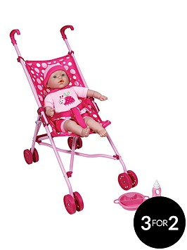 lissi-40cm-soft-baby-doll-with-folding-stroller