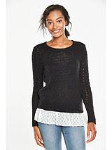 Lace Bow 2-In-1 Jumper