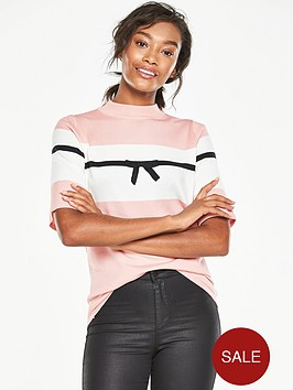 v-by-very-colour-block-crew-neck-bow-detail-jumpernbsp