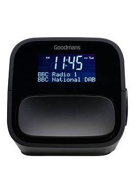 Goodmans Nod Dab And Fm Clock Radio  Slate