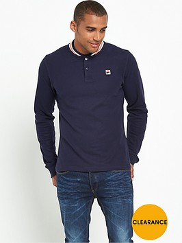 fila-baseball-collar-long-sleeve-polo