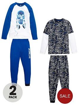v-by-very-boys-skull-glow-in-the-dark-pyjamas-2-pack